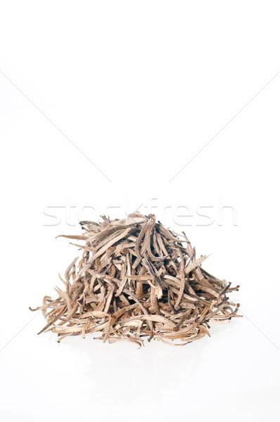 Prata dicas chá branco saúde fundo Foto stock © calvste