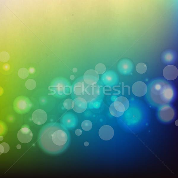 Verde blu retro gradiente carta Foto d'archivio © cammep