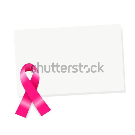 Blank Gift Tag With Pink Ribbon Stock photo © cammep