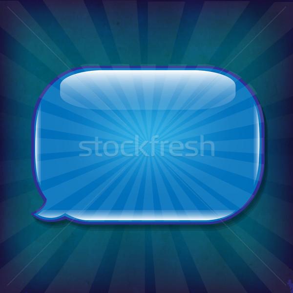 Foto stock: Oscuro · azul · textura · grunge · bocadillo · gradiente
