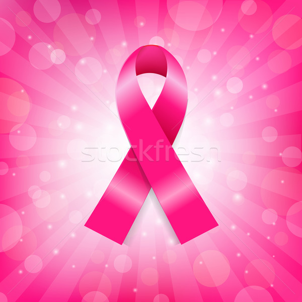 Pink Breast Cancer Ribbon Banner Stock photo © cammep