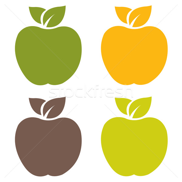 Organiczny zestaw drzewo jabłko owoców Zdjęcia stock © cammep