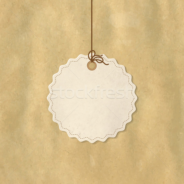 Papier prix tag isolé blanche Shopping Photo stock © cammep