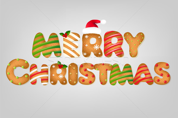 Xmas Cookie Text Stock photo © cammep
