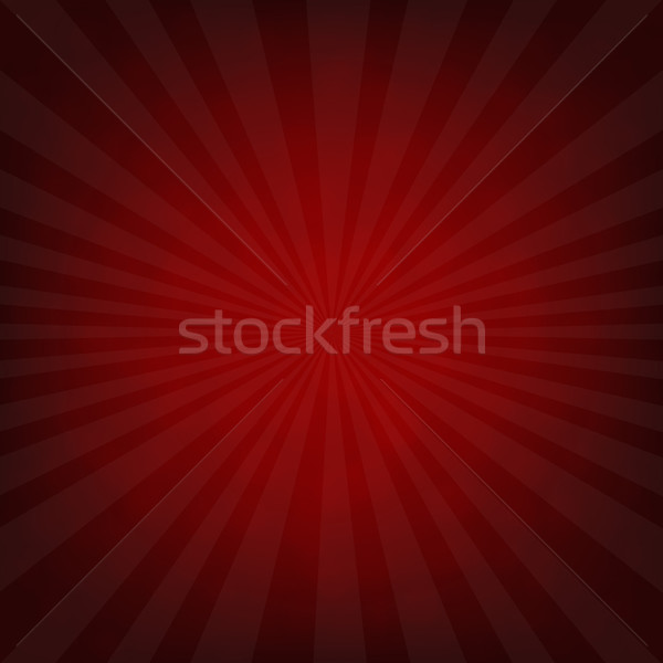Sunburst Dark Red Retro Poster Stock photo © cammep