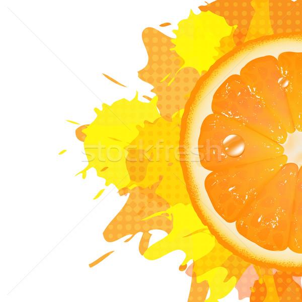 Half Of Orange With Blot Stock photo © cammep