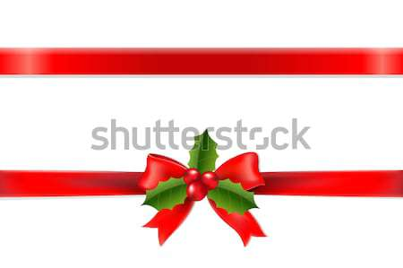 Retro Divider Ribbon With Holly Berry Stock photo © cammep