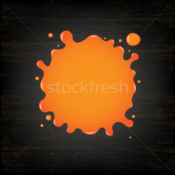 Orange Blot On Black Wooden Background Stock photo © cammep