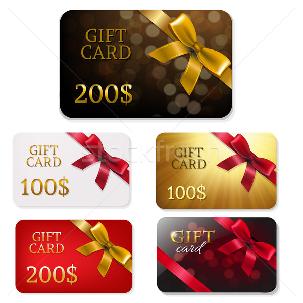 Gift Card With Bows Big Set Stock photo © cammep