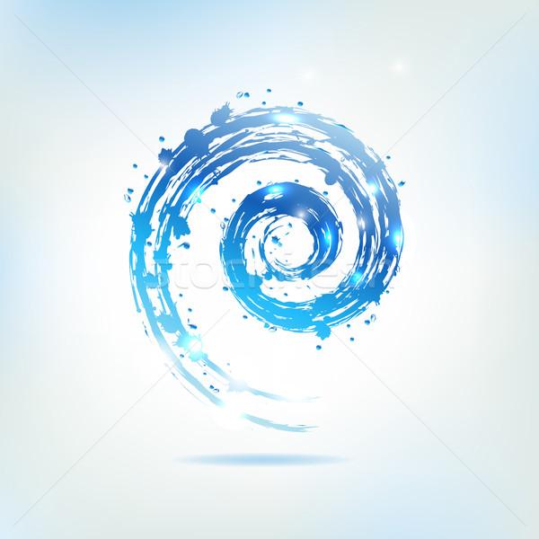 Azul resumen mar diseno fondo Foto stock © cammep