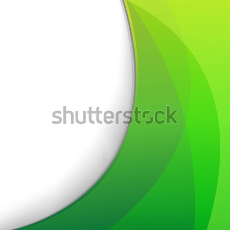Green Wallpaper With Eco Lamp Symbol Stock photo © cammep