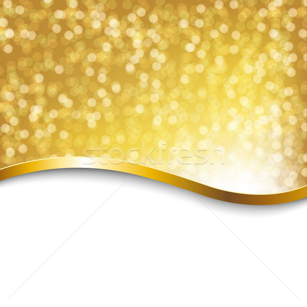 Golden Holiday Poster Stock photo © cammep