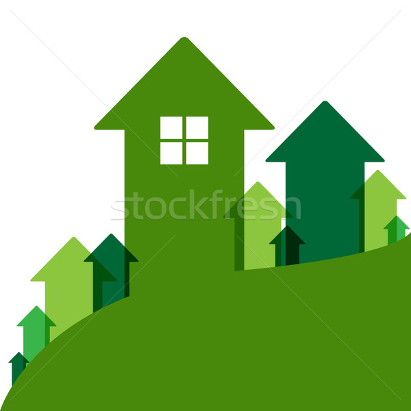 Green Home Value Stock photo © cammep
