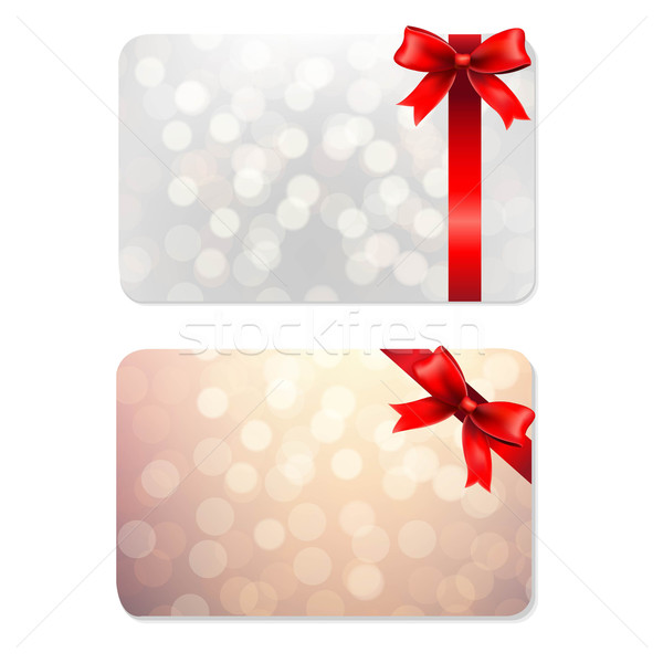 Bows And Blank Gift Tags Stock photo © cammep