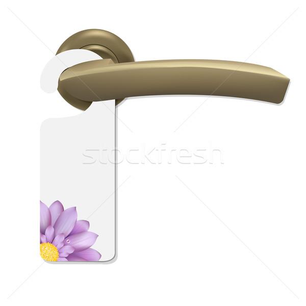 Do Not Disturb Sign With Gerber And Door Handle Stock photo © cammep