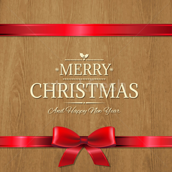 Vector Christmas Wood Texture Stock photo © cammep
