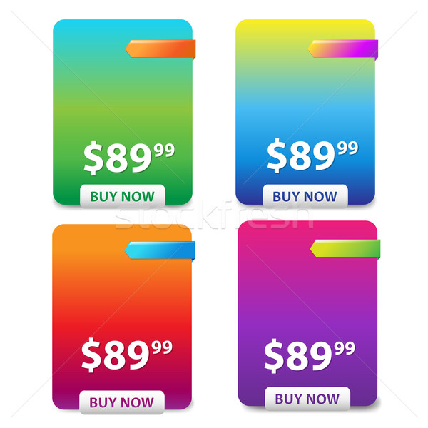 Color Price Table Stock photo © cammep