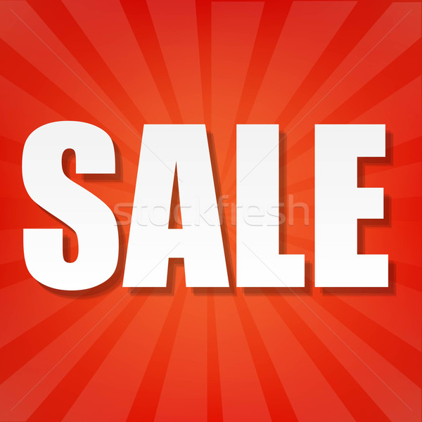 Sale Text With Red Sunburst Stock photo © cammep