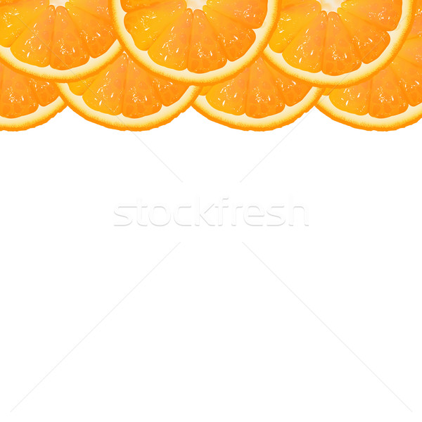 Orange Segment Border Stock photo © cammep