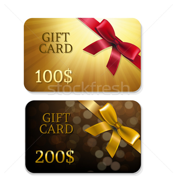 Or cadeau cartes gradient main Photo stock © cammep
