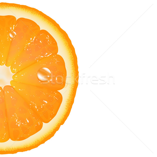 Orange isolé blanche alimentaire couleur Photo stock © cammep