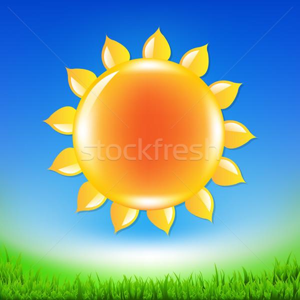 Stok fotoğraf: Yaz · satış · afiş · güneş · eğim