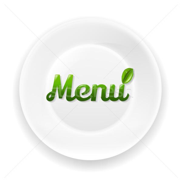 Bianco piatto menu testo gradiente Foto d'archivio © cammep