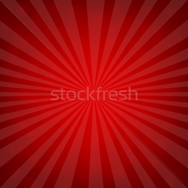 Sunburst Red Retro Poster Stock photo © cammep