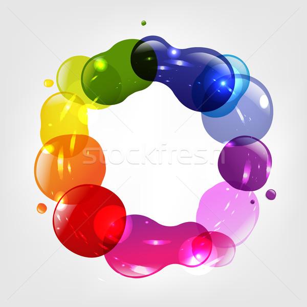 Dialog balon kolor streszczenie projektu farby Zdjęcia stock © cammep