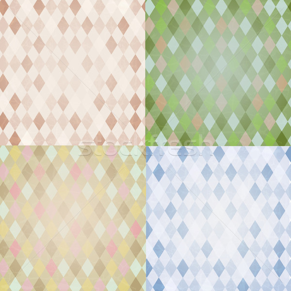 Vintage Harlequin Backgrounds Set Stock photo © cammep