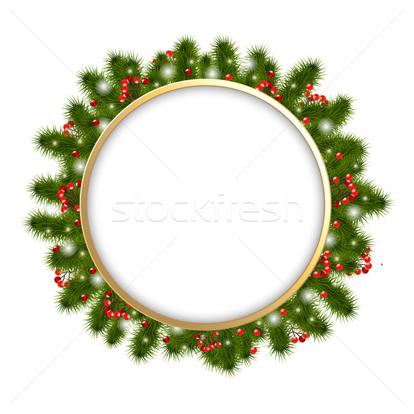 Christmas Composition With Firtree Branches Stock photo © cammep
