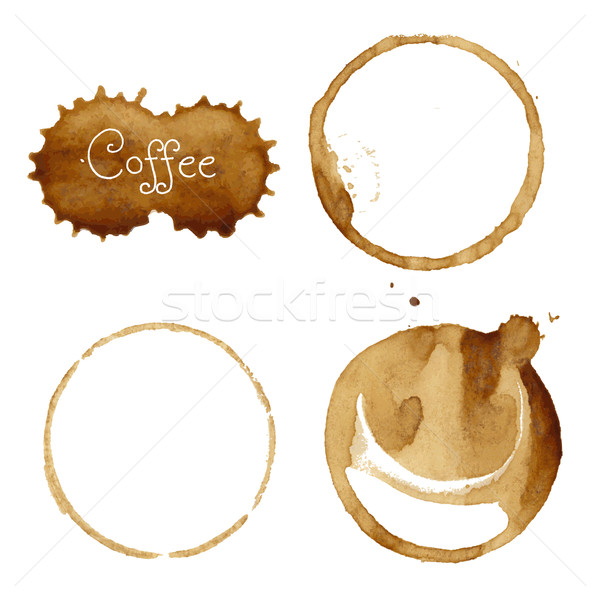 Coffee Stain Collection Stock photo © cammep