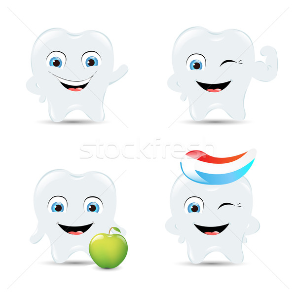 Tooth Icons Set Stock photo © cammep