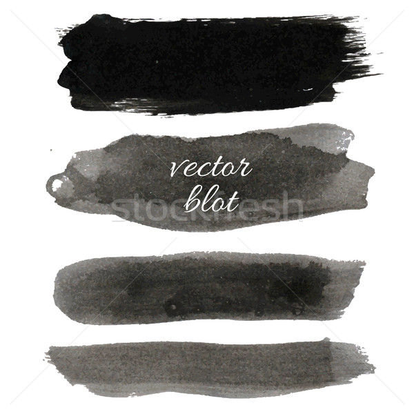 Big Black Blot Collection Stock photo © cammep