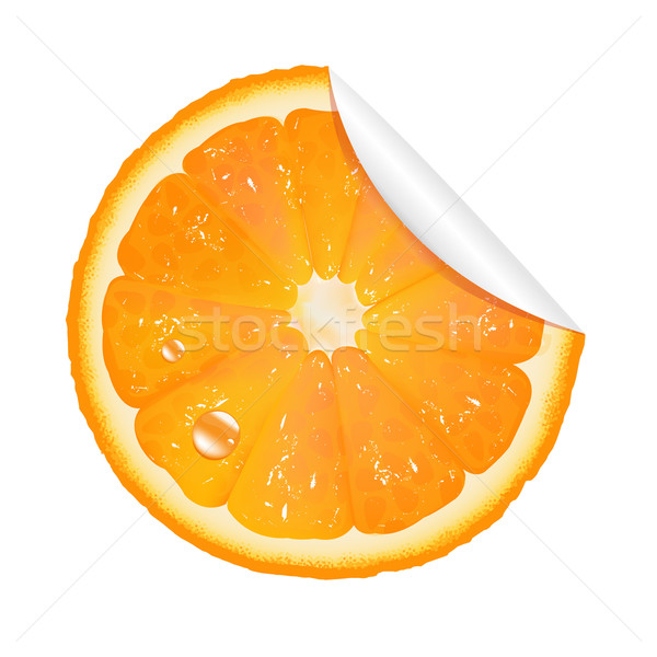Orange Sticker Stock photo © cammep