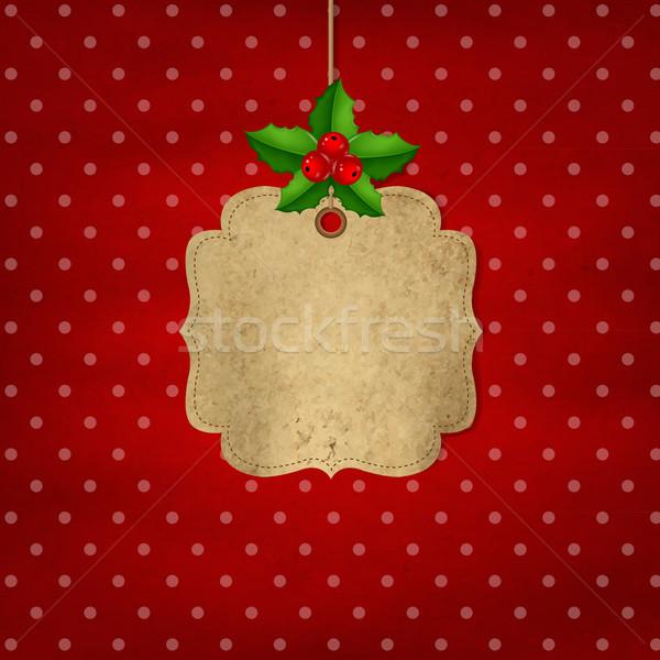 Rojo navidad etiqueta Berry gradiente Foto stock © cammep