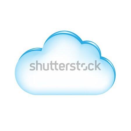 Niebieski Chmura gradient odizolowany biały Zdjęcia stock © cammep