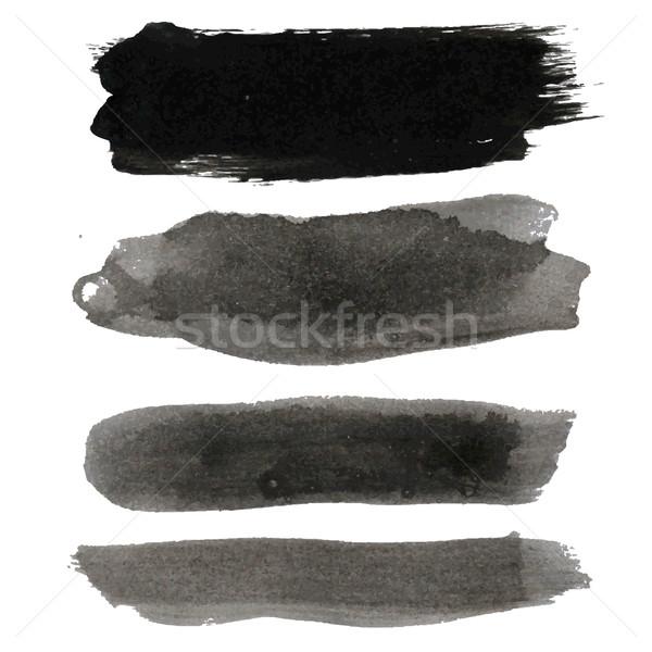 Big Black Blots Collection Stock photo © cammep