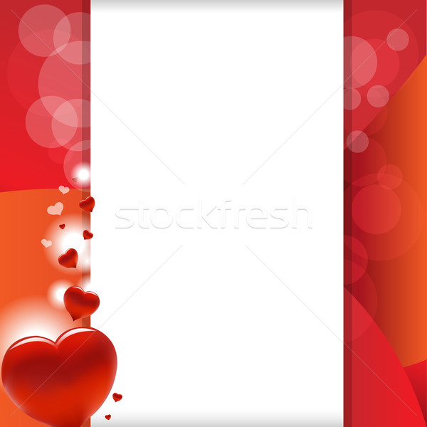 Valentine Background With Heart And Paper Stock photo © cammep