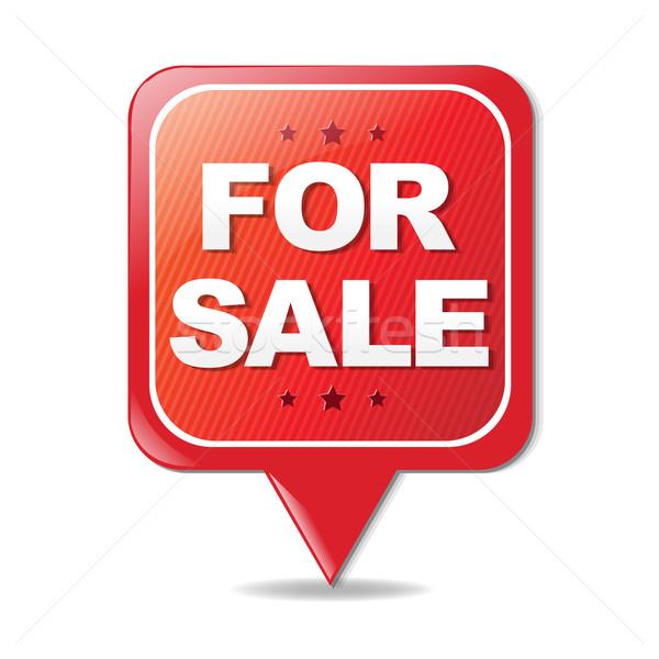 Assinar venda gradiente edifício casa Foto stock © cammep