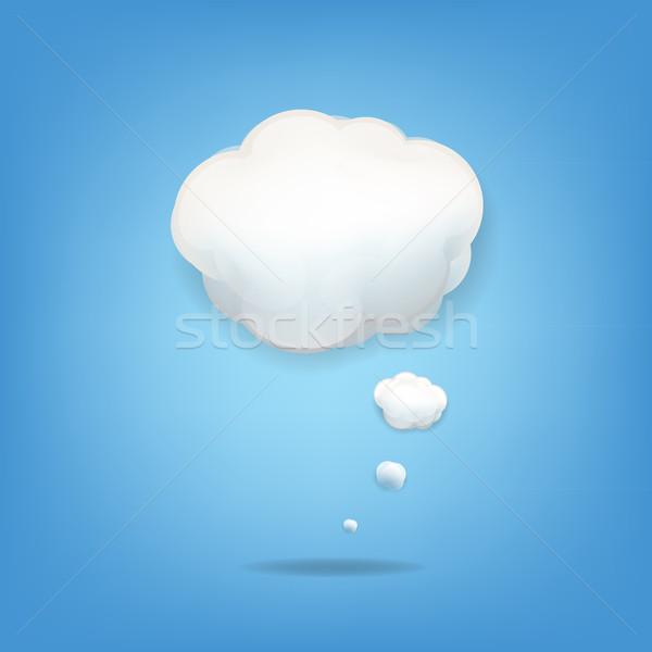 Chmura icon gradient niebo charakter świetle Zdjęcia stock © cammep