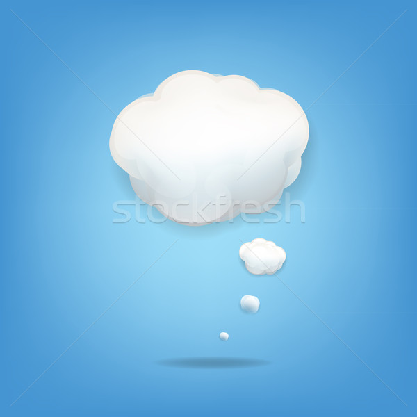 Nube icono gradiente cielo naturaleza luz Foto stock © cammep