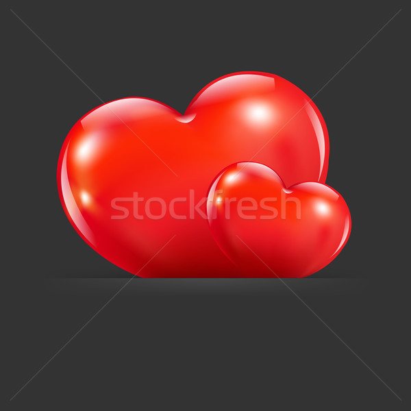 Hearts With Divider Stock photo © cammep