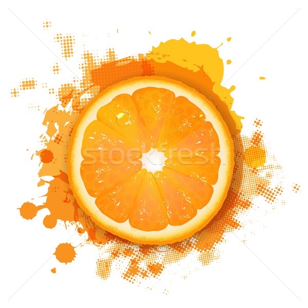 Orange With Orange Blob Stock photo © cammep