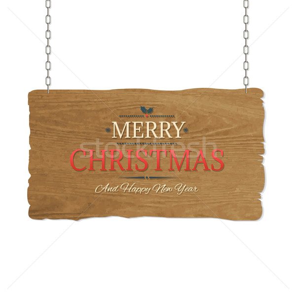 Stock photo: Wooden Sign