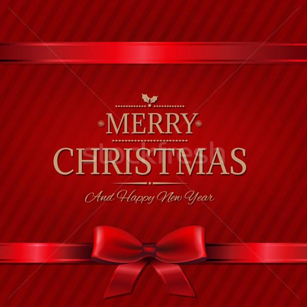 Retro rosso Natale muro gradiente Foto d'archivio © cammep