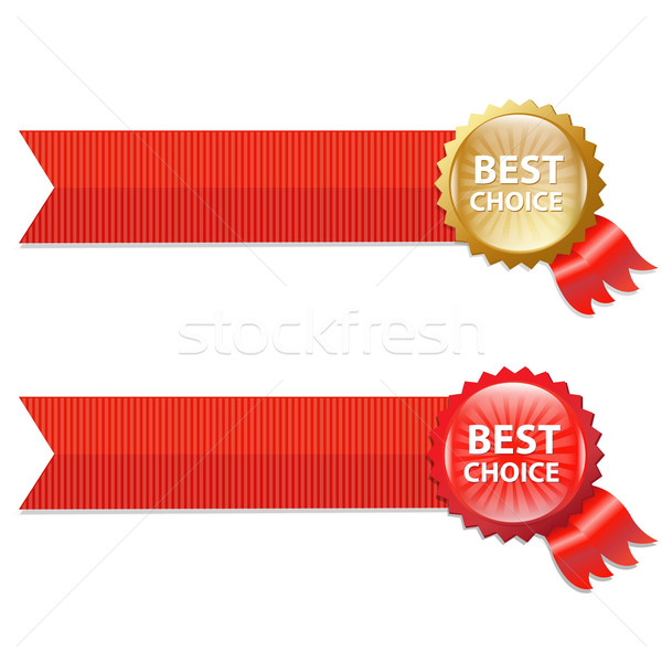 Stock photo: Best Choice Labels With Ribbons