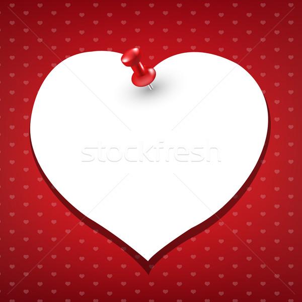 Stockfoto: Hart · Rood · papier · gelukkig · achtergrond