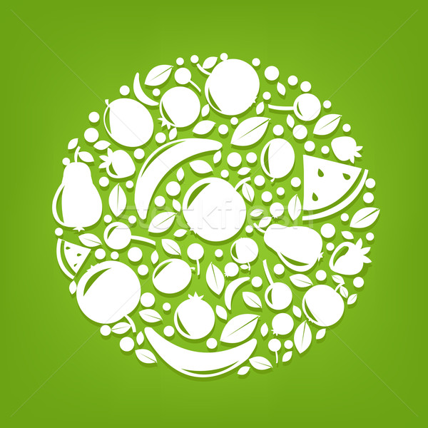 Stock photo: Sphere From Fruits