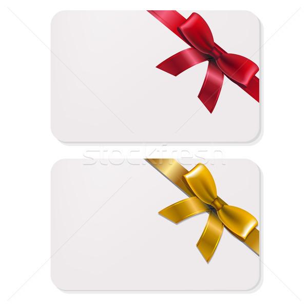 Stock fotó: Ajándékkártya · íjak · ajándékok · kártya · gradiens · háló
